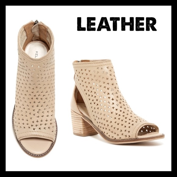 Kelsi Dagger Brooklyn Perforated Leather Bootie